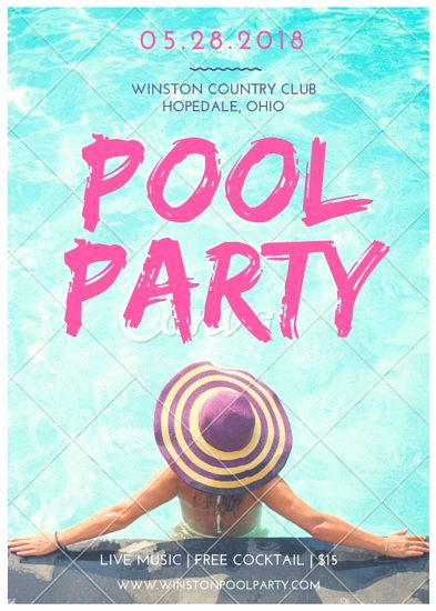 Pool Party Flyers Templates Free Inspirational Pool Party Flyer Templates by Canva