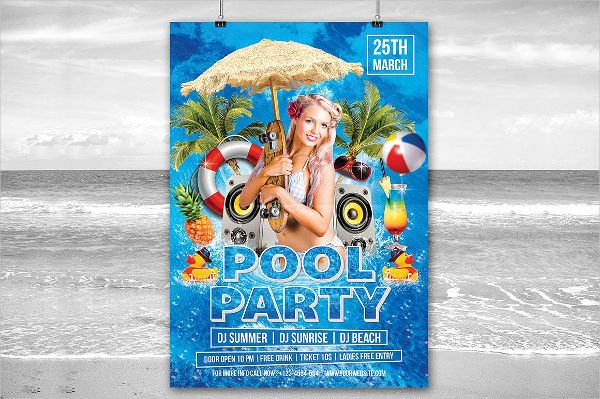 Pool Party Flyers Templates Free Luxury 9 Pool Party Flyers Designs Templates