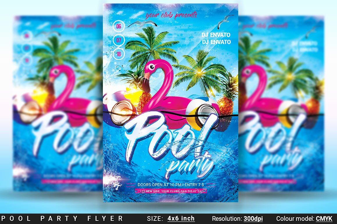 Pool Party Flyers Templates Free Luxury Pool Party Flyer