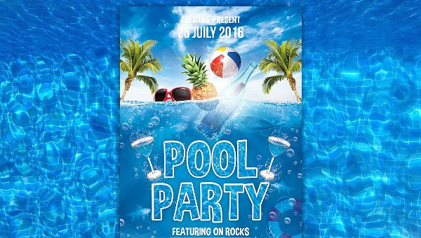 Pool Party Flyers Templates Lovely 20 Pool Party Flyer Templates Free Premium Psd
