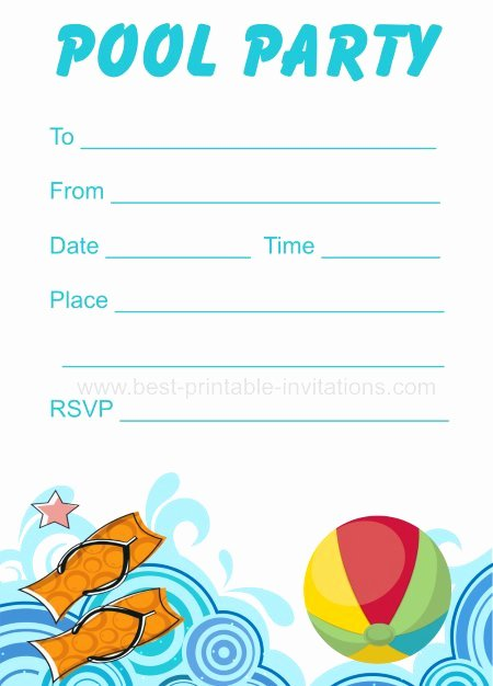 Pool Party Invite Template Awesome 45 Pool Party Invitations
