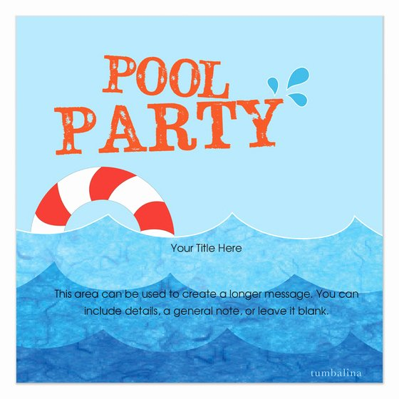 Pool Party Invite Template Beautiful Pool Party Buoy Invitations & Cards On Pingg