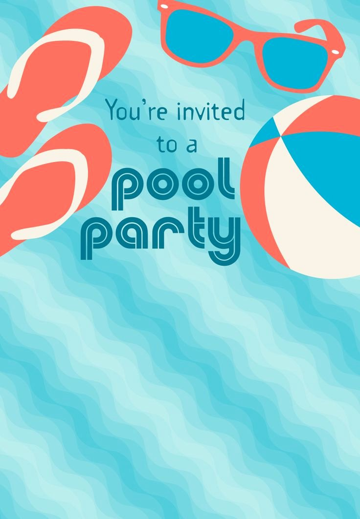 Pool Party Invite Template Best Of Best 25 Summer Party Invites Ideas On Pinterest