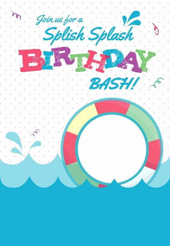 Pool Party Invite Template Best Of Splish Splash Free Printable Summer Party Invitation