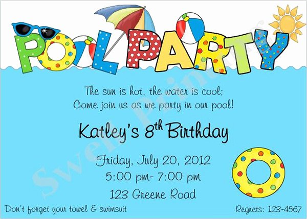 Pool Party Invite Template Elegant 36 Pool Party Invitation Templates Psd Ai Word