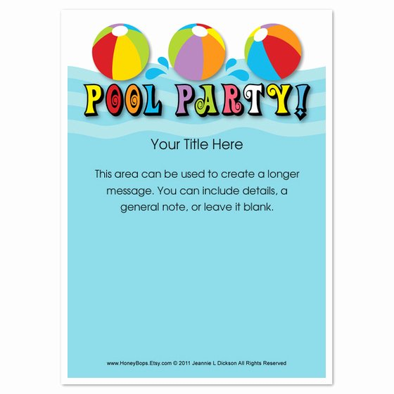 Pool Party Invite Template Elegant Pool Party Everyone Invitations & Cards On Pingg