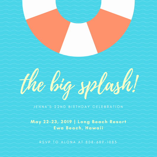 Pool Party Invite Template Fresh 40 Beach Party Ideas Canva