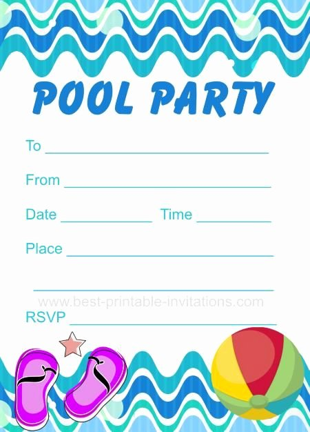 Pool Party Invite Template Fresh Pool Party Invitation Free Printable Party Invites From