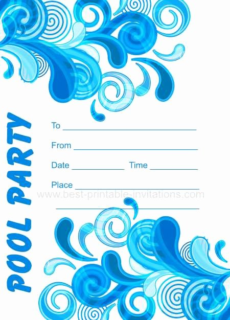 Pool Party Invite Template Inspirational Adult Pool Party Invitations