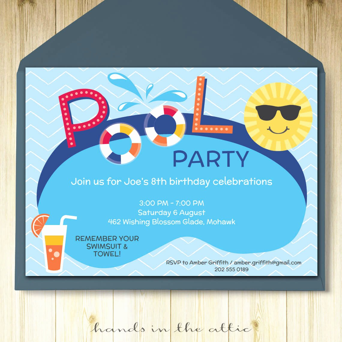 Pool Party Invite Template Inspirational Pool Party Invitation Card Editable Template Party Printable