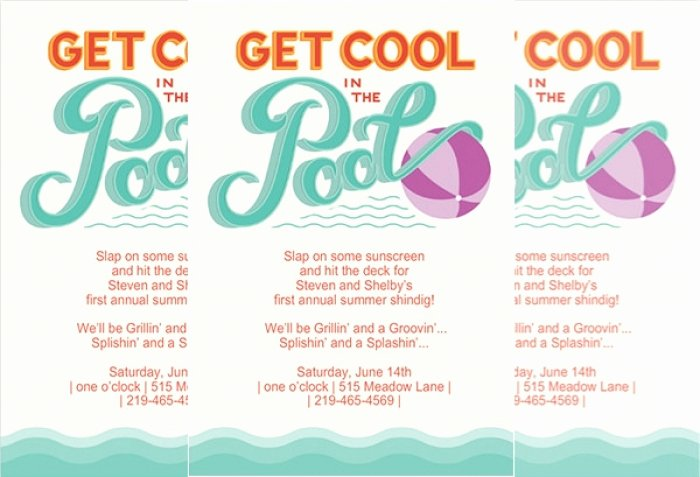 Pool Party Invite Template Luxury Awesome Pool Party Invitation Templates Mericahotel