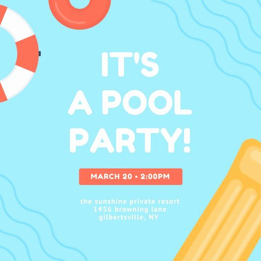 Pool Party Invite Template Luxury Customize 3 999 Pool Party Invitation Templates Online