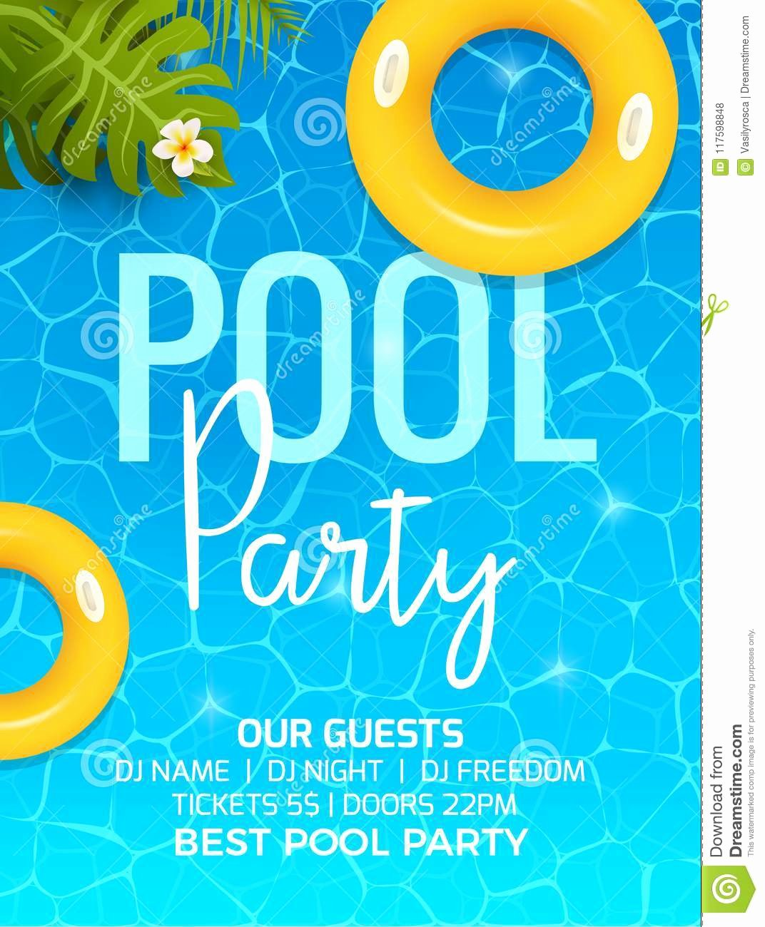 Pool Party Invite Template Luxury Pool Summer Party Invitation Template Invitation Pool