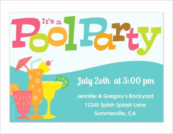 Pool Party Invite Template New 12 Sample Best Pool Party Invitations Word Psd Ai