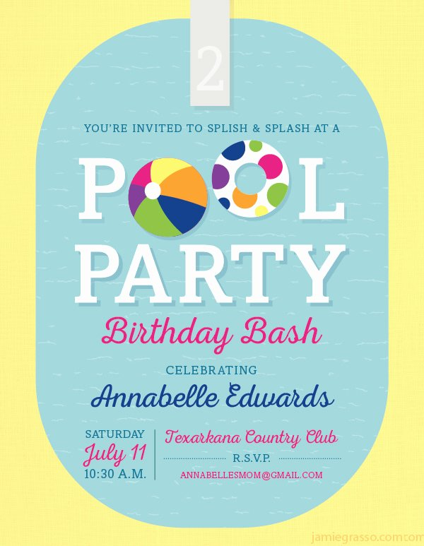 Pool Party Invite Template New 36 Pool Party Invitation Templates Psd Ai Word