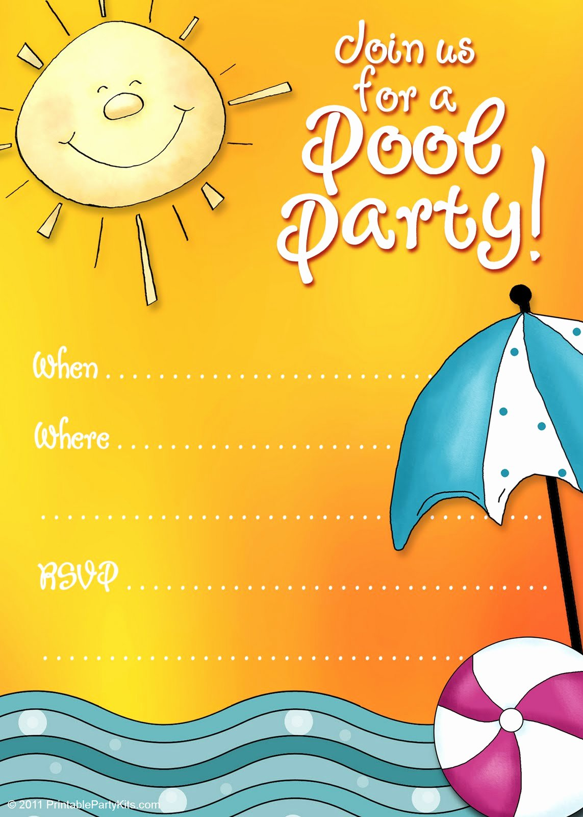 Pool Party Invite Template New Free Printable Party Invitations Summer Pool Party Invites