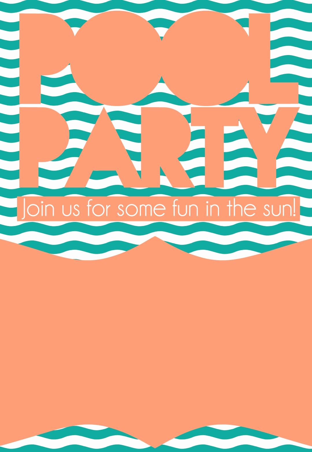 Pool Party Invite Template New Summer Pool Party Invitation Free Printable Diy