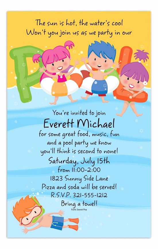 Pool Party Invite Template Unique 71 Best Pool Party Invitations Images On Pinterest