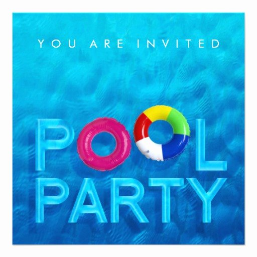 "Pool Party Invite Template Unique Summer Swimming Pool Party Invitation 5 25"" Square"