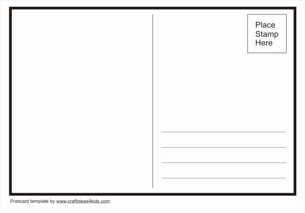 Postcard Template for Kids Awesome Postcard Template – Craft Ideas for Kids