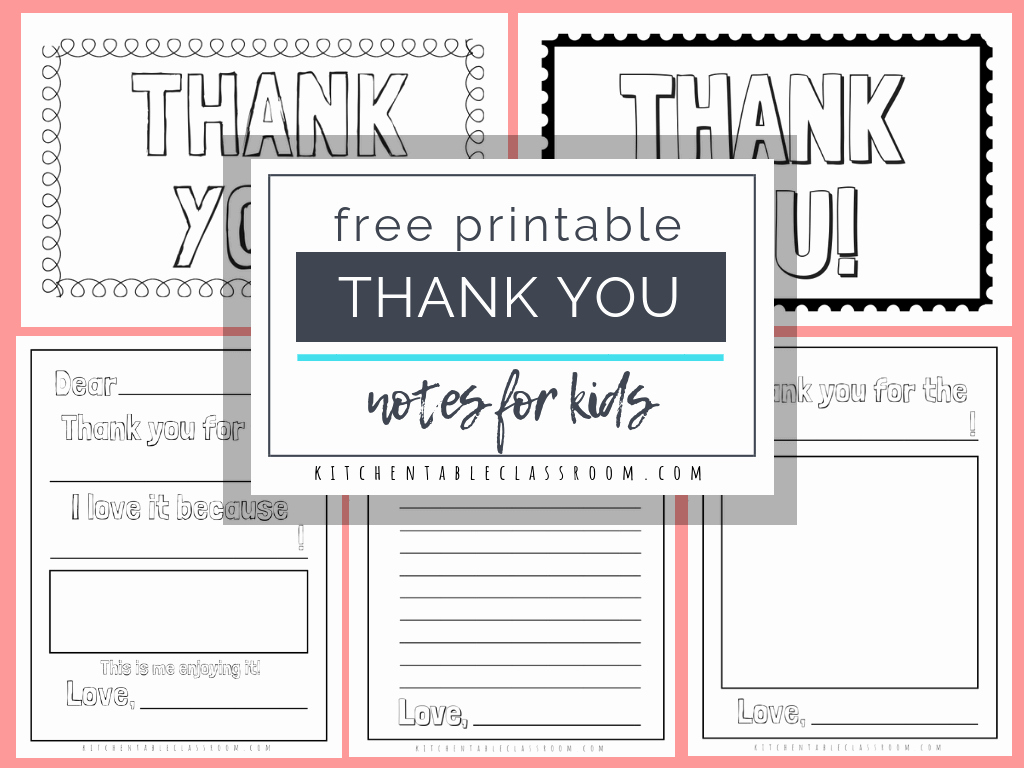 Postcard Template for Kids Best Of Printable Thank You Cards for Kids the Kitchen Table