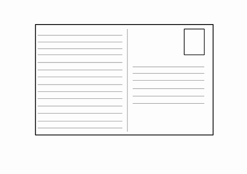 Postcard Template for Kids Lovely Blank Postcard Template by 4877jessie Teaching Resources