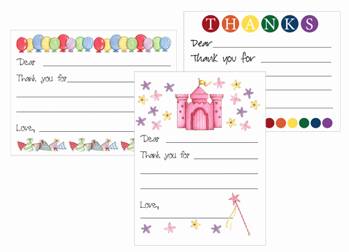 Postcard Template for Kids Unique Redfly Creations Free Kids Thank You Card Templates