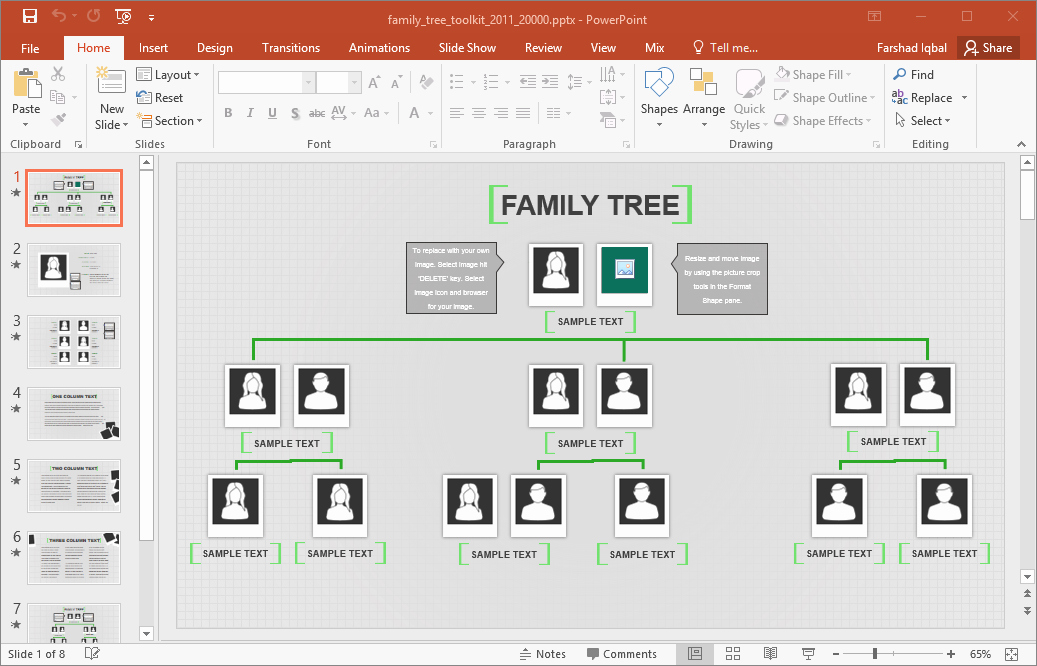 Powerpoint Family Tree Template Best Of Family Tree Template for Excel