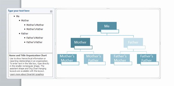Powerpoint Family Tree Template Lovely Family Tree Powerpoint Using Smartart