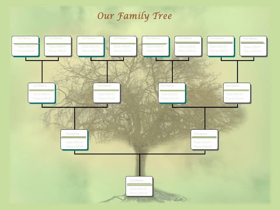 Powerpoint Family Tree Template New Family Tree Chart Template Example