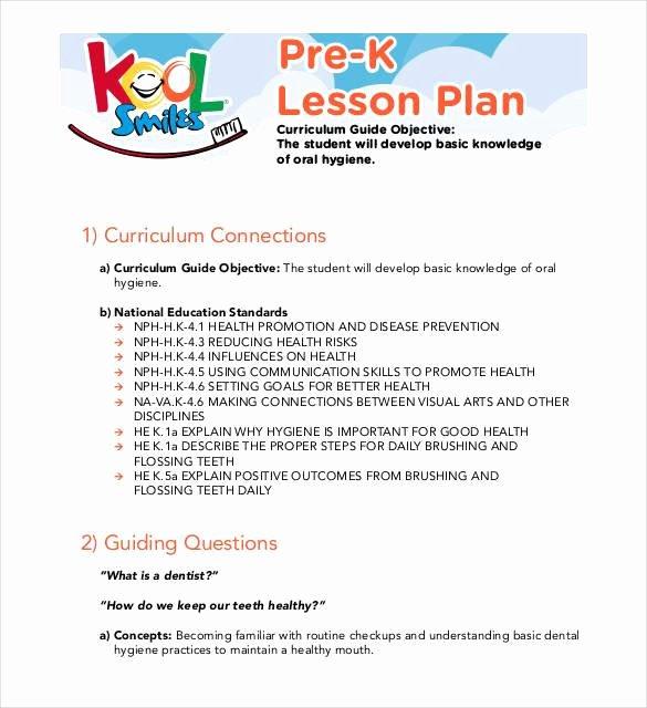 Pre Kindergarten Lesson Plan Template Fresh 22 Preschool Lesson Plan Templates Doc Pdf Excel