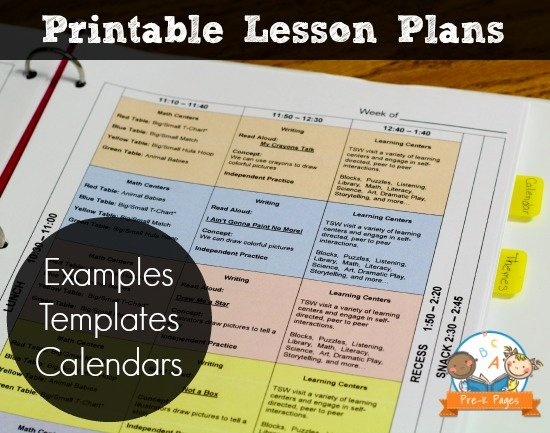 Pre Kindergarten Lesson Plan Template Lovely Printable Lesson Plans for Preschool Pre K and Kindergarten