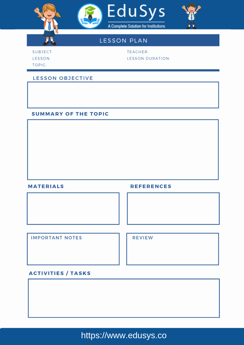Pre Kindergarten Lesson Plan Template New Cbse Lesson Plans 2019 5 Sample format Templates