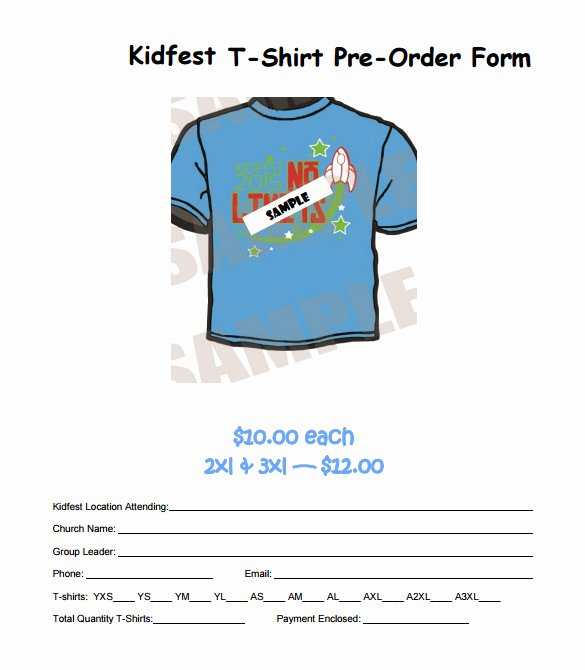 Pre order form Template Best Of 26 T Shirt order form Templates Pdf Doc