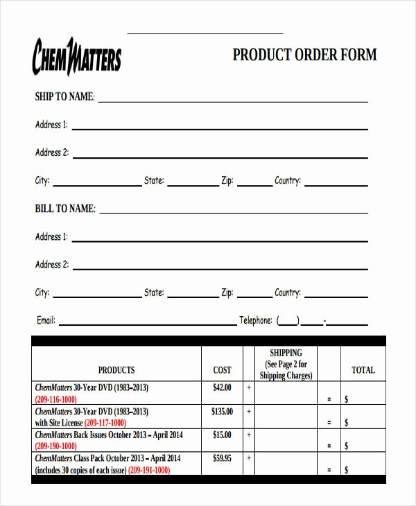 Pre order form Template Fresh 9 Product order forms Free Samples Examples format