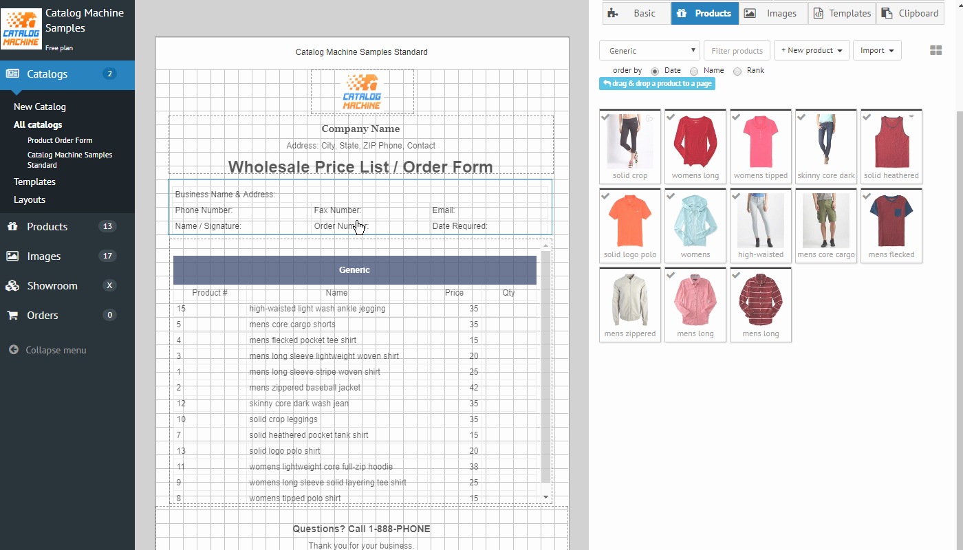 Pre order form Template Fresh Product order forms Easily Create order forms & Catalogs
