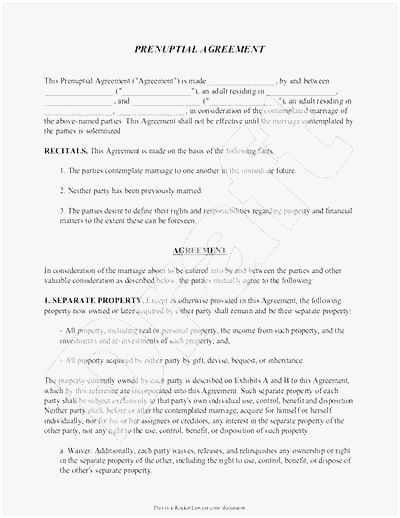 Prenuptial Agreement Texas Template Awesome Free 57 Prenuptial Agreement Template Examples