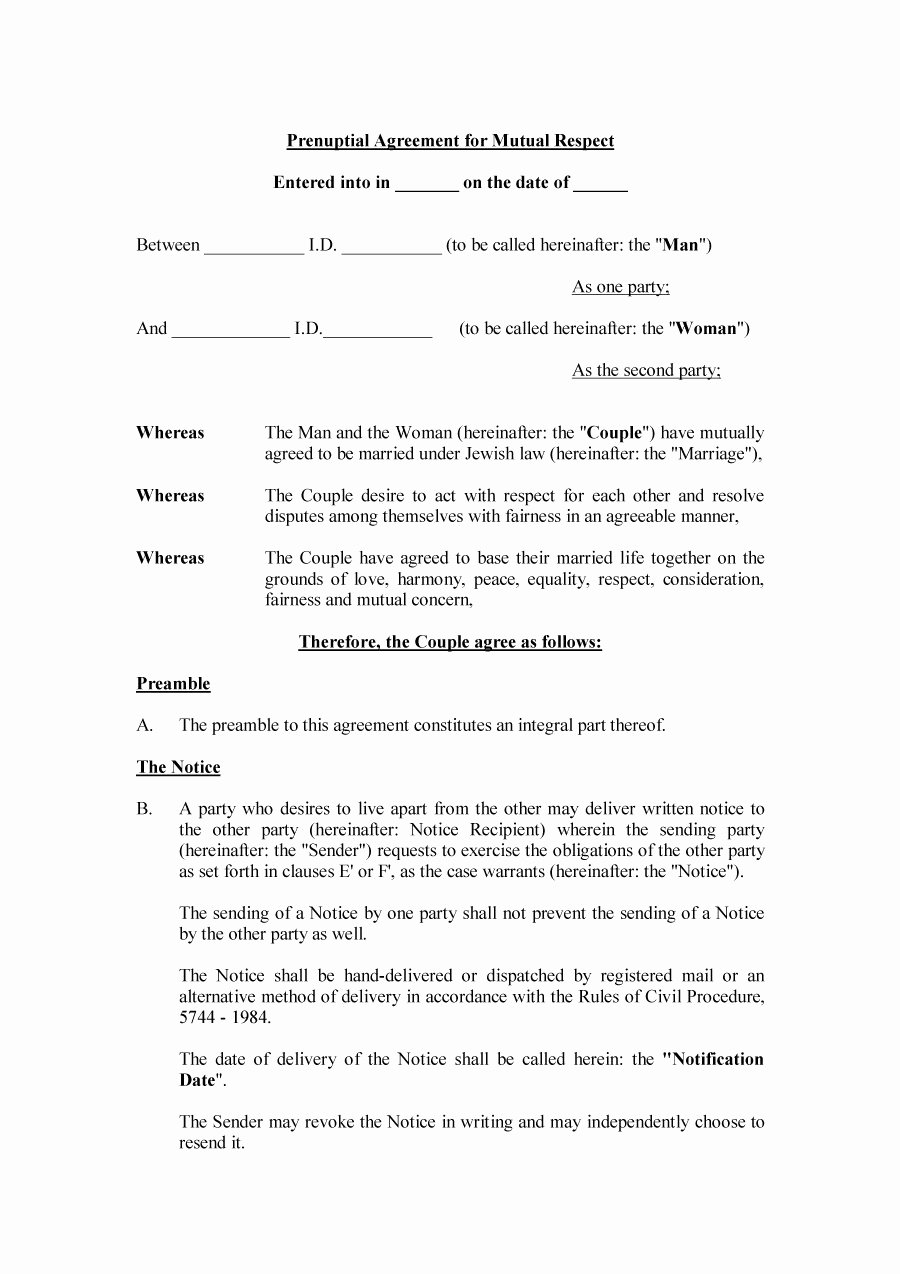 Prenuptial Agreement Texas Template Fresh 31 Free Prenuptial Agreement Samples & forms Free