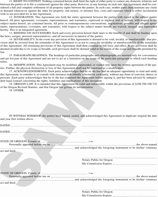 Prenuptial Agreement Texas Template Fresh Download oregon Prenuptial Agreement Sample for Free