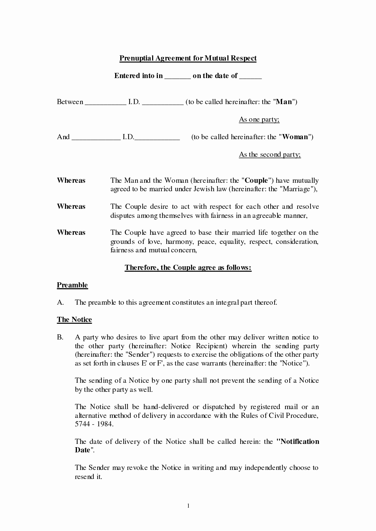 Prenuptial Agreement Texas Template Lovely Agreement Template Category Page 54 Efoza