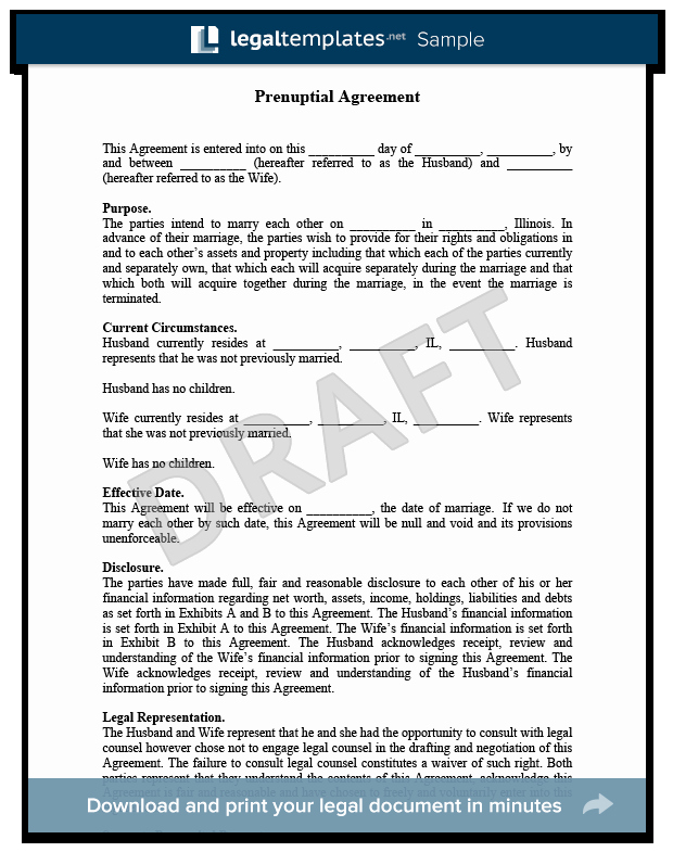 Prenuptial Agreement Texas Template Unique Prenuptial Agreement Create A Free Prenup