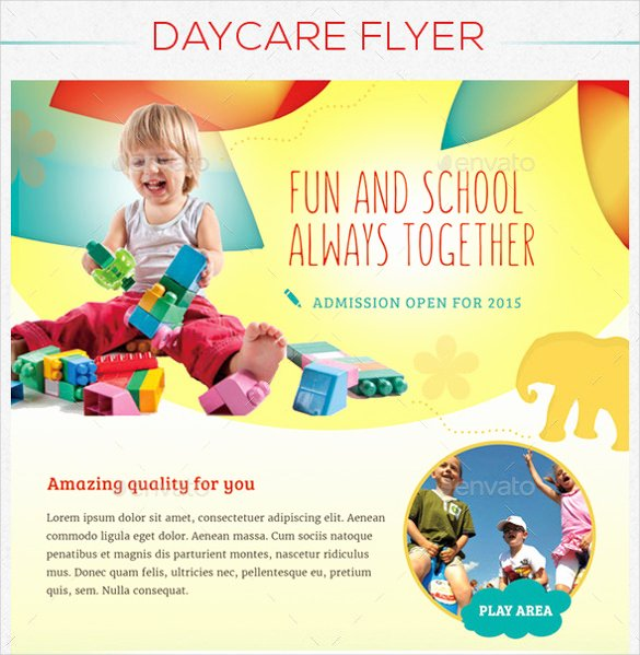 Preschool Flyer Template Free Awesome Daycare Flyer Template – 24 Free Psd Ai Vector Eps