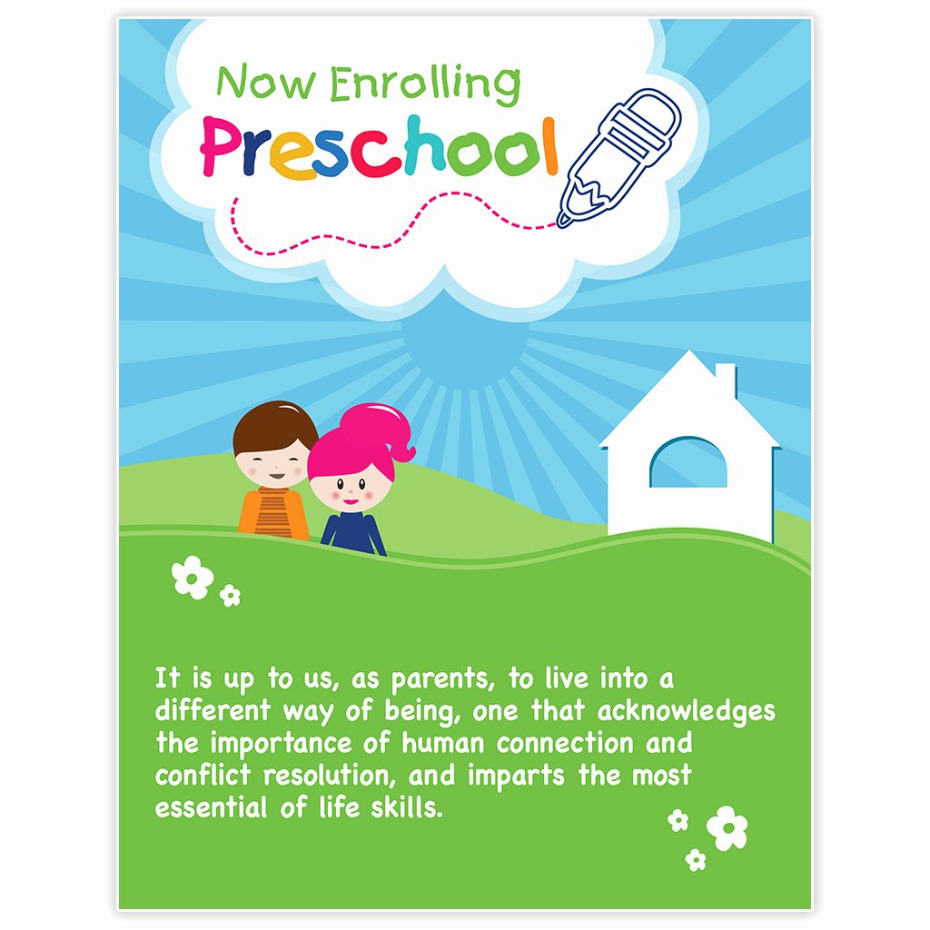 Preschool Flyer Template Free Beautiful Preschool Kids Poster Template