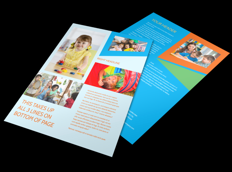 Preschool Flyer Template Free Best Of Fun Preschool Flyer Template
