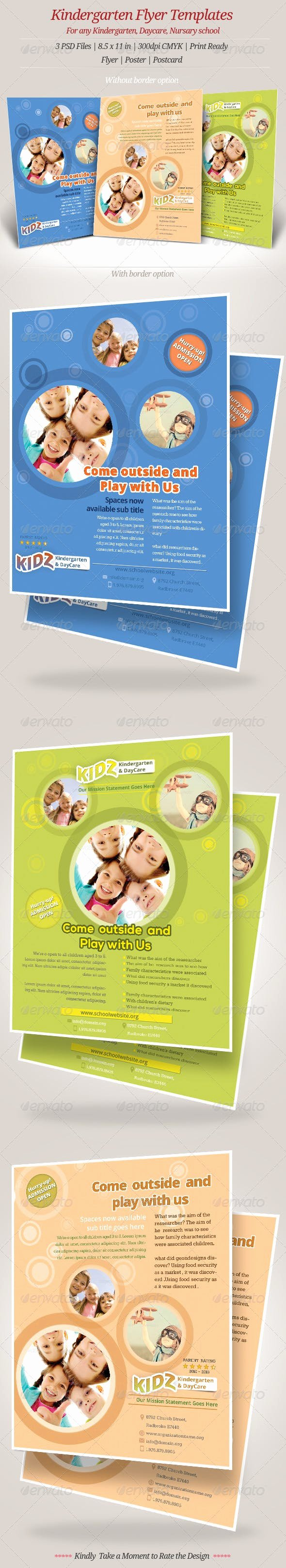 Preschool Flyer Template Free Best Of Kindergarten Daycare Flyer Templates by Geon