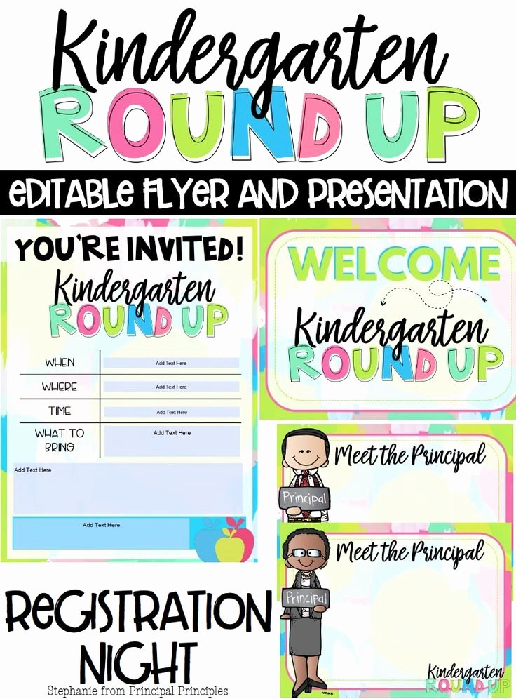 Preschool Flyer Template Free Best Of Kindergarten Round Up Editable Flyer and Powerpoint for