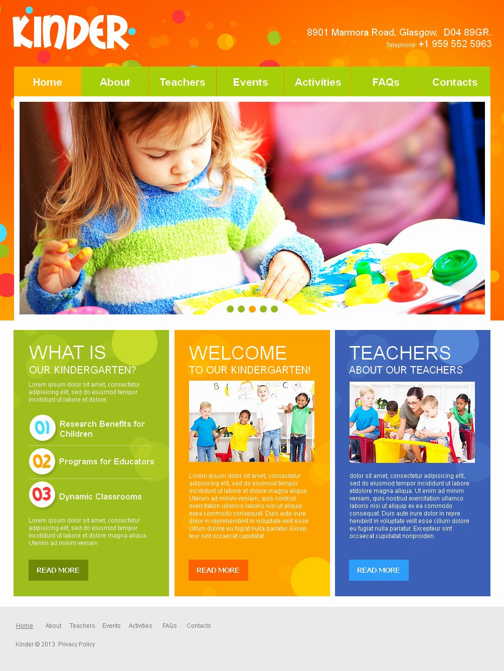 Preschool Flyer Template Free Fresh Kids Center Moto Cms HTML Template