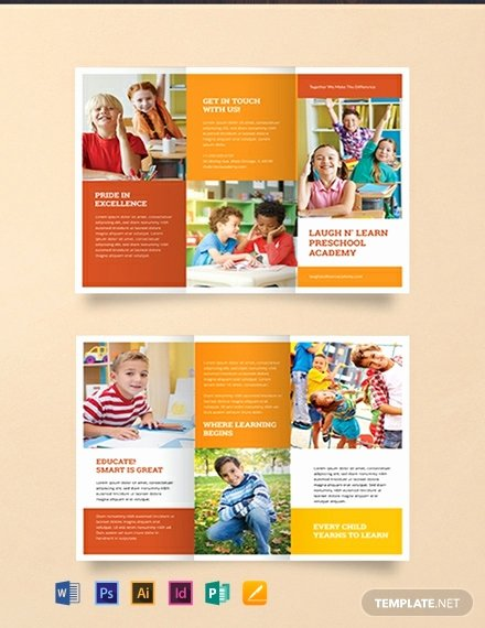 Preschool Flyer Template Free Inspirational Free Preschool Brochure Template Word Psd