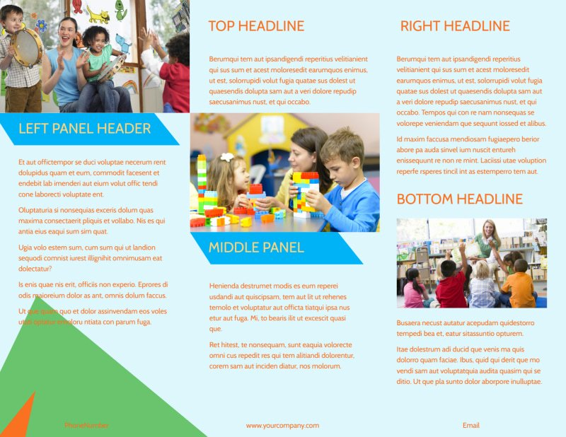 Preschool Flyer Template Free Luxury Fun Preschool Brochure Template