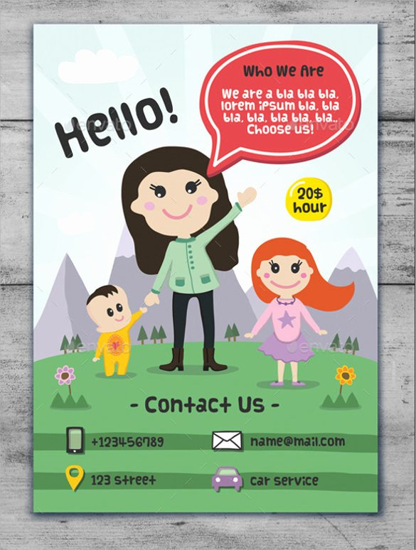 Preschool Flyer Template Free Unique 33 Daycare Flyer Templates Word Psd Ai Eps Vector